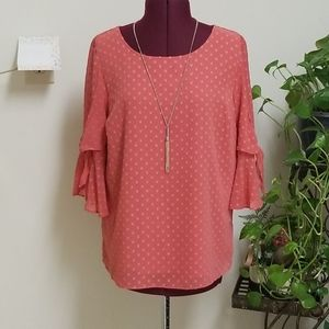 LC Lauren Conrad Women's Long Sleeve Blouse Size S